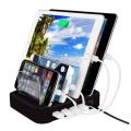Smart Phone Tablet PC Ladestation 4 Anschlüsse USB Ladegerät
