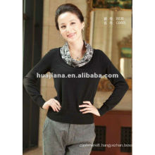 Elegant women sweater/blended cashmere pullover