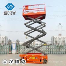 Plate-forme de travail de ciseaux de levage hydraulique montée par remorque de quatre roues de SJY