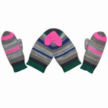 Мода сладкие валентинки пару акрил трикотажные зимние теплые перчатки (YKY5430)