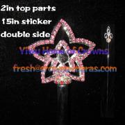Bintang berbentuk tongkat Crystal Pageant--dua sisi