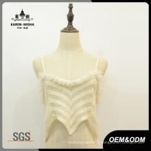Femmes Street Fashion Slip Crochet Lace Chandail Gilet