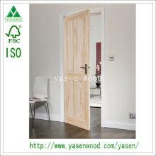 Panneau en bois surélevé Porte intérieure en bois sur mesure