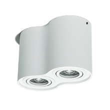 Downlight LED rond blanc * 2 * 7W dimmable