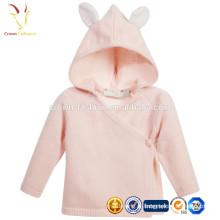 Projeto feito sob encomenda cor-de-rosa da camisola do bebê da caxemira, camisola da criança