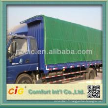 Couverture faite sur commande de couverture de voiture de camion de PVC d'emballage de petit pain emballé imperméable anti-UV en cuir