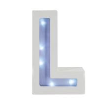 MDF LED letra L para decoração para o lar (650540)