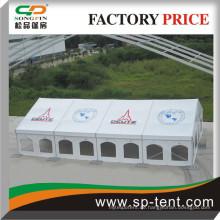 Multispan-Festzelt 12x20m mit Digitaldruck auf ganzen Dachplatten