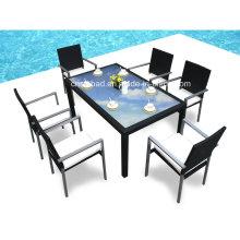 Outdoor Speisesaal Ror Esszimmer mit sechs Stühlen (6213-A)