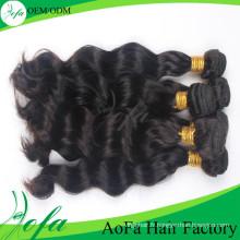 Trame de cheveux humains de Remy de cheveux vierges non transformés de catégorie d'Aofa 7A