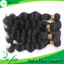 Trama não processada do cabelo humano de Remy do cabelo do Virgin da categoria de Aofa 7A