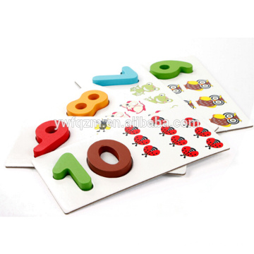 Pädagogisches Spielzeug des Verkaufsspielzeugs des Verkaufs des hölzernen Blockwürfelpuzzlespiels 3d