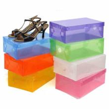 Boîte à chaussures en plastique découpée à la main imprimée bon marché (boîte d'affichage de PVC)