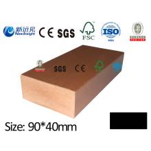 90 * 40mm WPC Joist WPC Keel avec SGS CE Fsc ISO pour pavage, bardage, plancher Lhma119