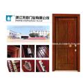 Porta blindada de aço estilo turco de madeira