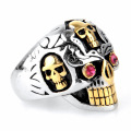 Retro Style Sweatproof Titanium Steel Skull Ring