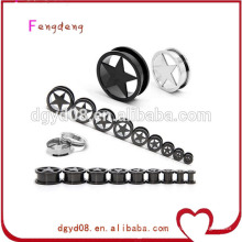 Stainless steel ear tunnel body piercing jewelry