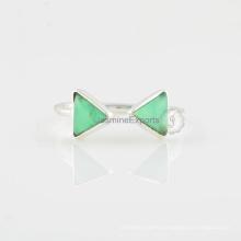 925 Sterling Silver Ring & Chrysoprase Gemstone Silver Ring Supplier