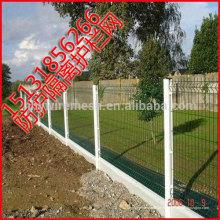 clôture soudée de fil, exportation à la barrière soudée du Japon, clôture enduite de maille de fil de PVC