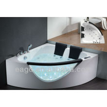 EAGO Whirlpool massage bathtub with two pillows AM199S