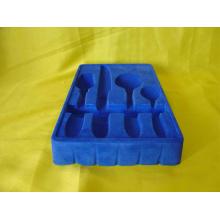 Plateau de flocage en plastique pour blister
