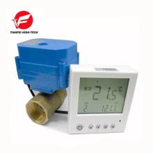 válvula termostática digital em latão