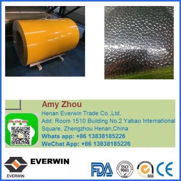 PE PVDF color coated aluminum roofing coil