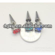 Piercing en pierre diamant en acier chirurgical en acier