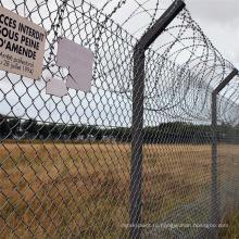 Безопасность 2021 года и красивый квадратный забор из звеньев цепи