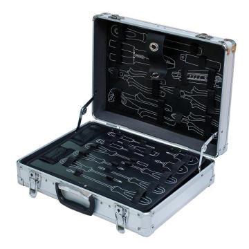 Caso de herramienta de aluminio de alta calidad con el bolsillo de la herramienta (KeLi-D-16)