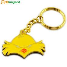 Porte-clés en métal personnalisé avec plaqué