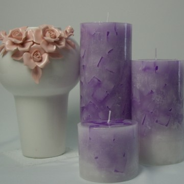 home decorative scented pillar candles