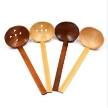 Cuchara de madera de la cocina cuchara de mango largo seguro
