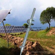 Estrutura de aço à terra, suporte solar, ancoragem à terra