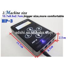 Potencia de huracán HP-3 Negro Dual Digital LCD tatuaje fuente de alimentación Tattoo Power Unit