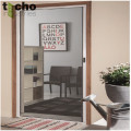 Double cassette rolling fly screen doors