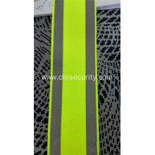 Elastic reflective double sided fabric