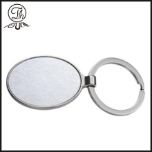 Personalizada em branco metal chaveiro para homens