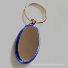 Hot Sale Oval forma promocional plástico acrílico chaveiro (F1005)
