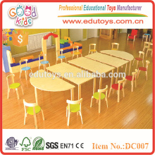 2015 Wholesale bright color wooden preschool furniture for children, children table and chairs