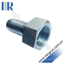 Carbon Steel Metric Female Flat Seat Hydraulic Hose Fittings (20211)