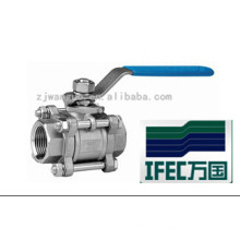 Vanne à bille sanitaire en acier inoxydable 3PC (IFEC-BV100011)