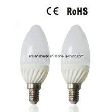 E14 4W alumínio e plástico SMD LED luz da vela
