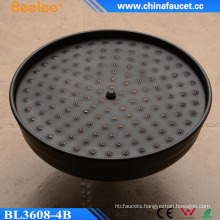 Orb Black Round Shower Mist Fall Shower Head in Wall