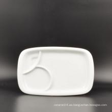 Placa de cena de porcelana personalizada de fábrica de China