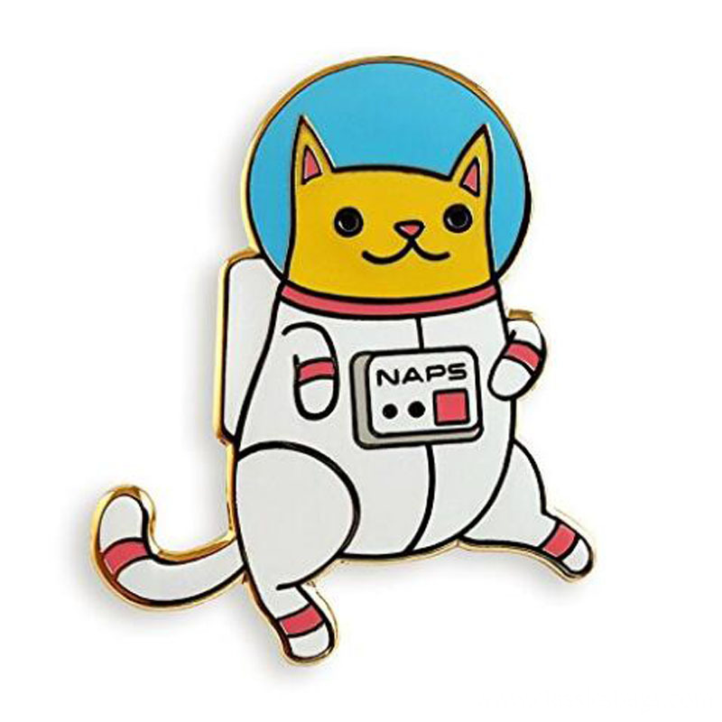Astro Cat Enamel Lapel Pin