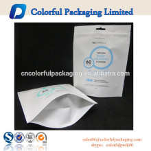 Stand up pouch white kraft paper bag laundry plastic bag