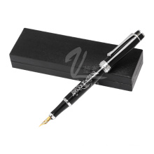Moda estilo preto caneta-tinteiro profissional metal caneta-tinteiro