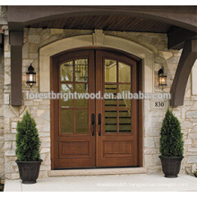 Rural Style Endtry Door Design Exterior Carved Wood Door with Glass