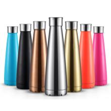 Stainless steel exercise water bottle